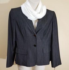 Calvin Klein size 16 indigo suit jacket NWT